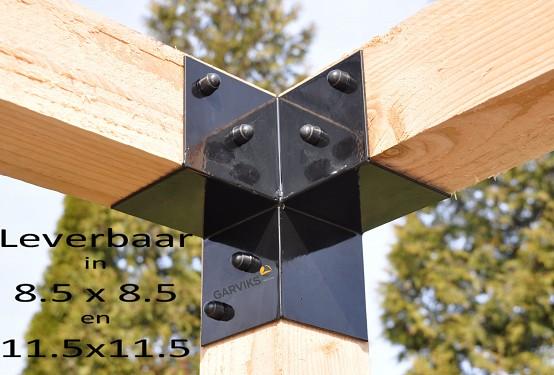 Garviks Pergola Kit / 2 x Eck-element 8.8cx8.8cm oder 11.5x11.5cm